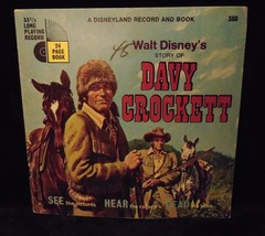Story of Davy Crockett Walt Disney Record and Book #360 - $16.82