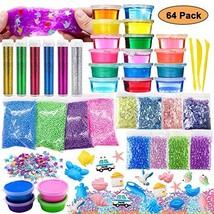 DIY Slime Toy For Girls Boys,Glitter Slime Making Kit 64 (64 Pack Slime ... - $34.63