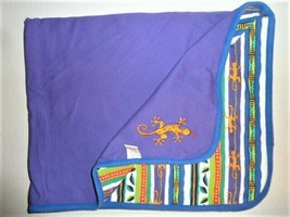 Vintage Gymboree Baby Boy Purple Blue Lizard Gecko Chameleon 1998 Blanket - $98.99
