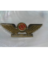 Vintage Northwest Orient Gold Plastic Flight Wings Pin Brooch – 2.5 x 7/... - $8.59