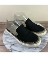UGG Caleel Black Leather Slip On Loafer Espadrille Mules Womens Size 6 - $39.95