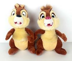 "Disney Parks Exclusive Chip & Dale Chipmunks Set 11"" Plush Stuffed Animals  - $29.99"