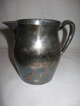 Poole Silver Co Silver Plate Pitcher Creamer Personal  17 Ounces 1893-1971 - $7.95