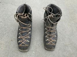 VINTAGE LEATHER KASTINGER CLASSIC 1950s 1960s Alpina Ski Boots Size US W... - $66.33