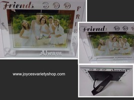 FRIENDS ALWAYS Etched Glass Photo Frame NWT 6 x 4 Photo - €12,90 EUR