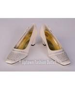 Women's Valenti Franco Low Heel Church Dress Champagne Shoes Satin SN#Da... - $39.99