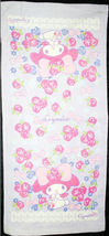 My Melody Rose Pattern 34 X 76 Cm Violet Color Exercise/ Shower Use Cotton Towel - $10.99