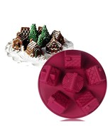 Christmas Silicone 6 Small Houses Shape Cake Nonstick Baking Mold  - $17.49