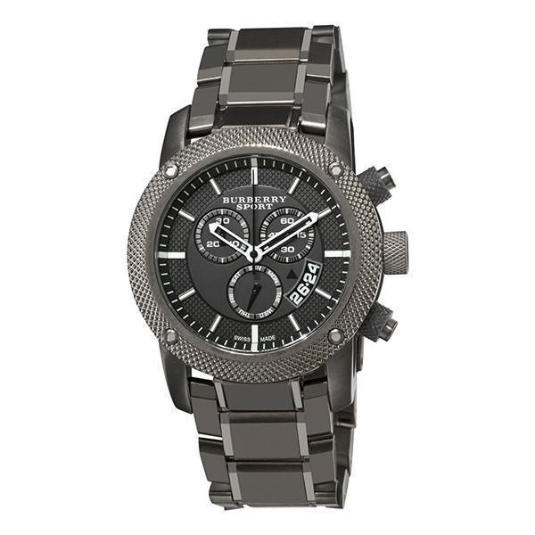 Burberry Men's Watch BU7716 Chrono Sport Gray Chronograph Dial