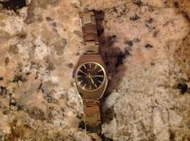 Vintage Benrus Ladies Gold Tone Metal Chain Wrist Watch Windup - $24.75