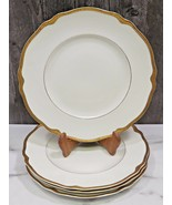 "Set 4 Franconia Krautheim Jewel Dinner Plates SELB BAVARIA 10.75"" Gold Rim - $87.12"
