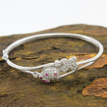 925 Sterling Silver Hello Kitty Openable Baby Kada Fine Jewelry 6.7 gm F... - $19.79