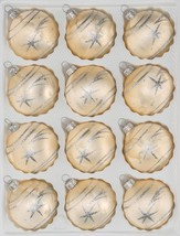 """12 pcs. Christmas Balls Set in """"Ice Champagne Silver"""" Comet - $19.99"""