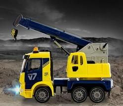 Yoowon Toys Crane Truck Car Vehicle Sound Effect Lights Heavy Equipment Play Toy image 2