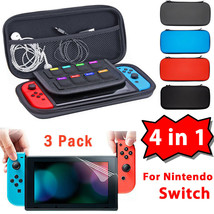 Case For Nintendo Switch EVA Hard Protective Carrying Bag Screen Protector Film - $35.90