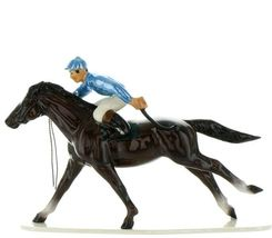 Hagen Renaker Specialty Horse with Jockey Racing Ceramic Figurine image 11