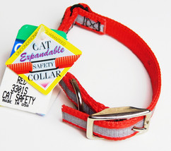 """Cat Safety Collar Expandable Snag Proof """"RED WHITE"""" Coastal Pet Products 3301s - $8.99"""