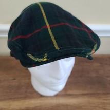 Polo Ralph Lauren Madras Driving Hat Newsboy Cap Green Plaid Vintage Woo... - $155.00