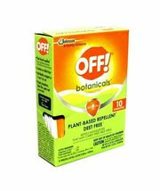 OFF! Botanicals Plant-Based Deet Free Insect Repellent Towelettes 10-Count NEW image 9