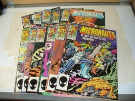 MICRONAUTS Lot of 12 Marvel Comic Books - #2-7 9-13  - $10.77