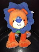 "Mary Meyer Lion Levi Orange Blue Green Bright Baby Stuffed Animal NEW 10"" - $19.79"