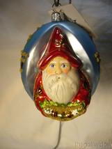 Vaillancourt Folk Art Jingle Balls Pearlized Santa in Red w/ Swag of Ornaments image 1