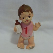 Vintage Wilton Chicago Cake Topper Decorating Baby Figure  - $10.89