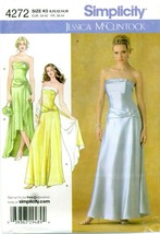 Simplicity 4272 Misses Dress Gown Wrap 8-16 Jessica McClintock Pattern U... - $29.65