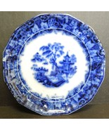 Antique 1839-1846 Staffordshire Flow Blue Transfer Scinde Pattern Plate ... - $18.99