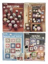 1985-86 Vintage Cross Stitch Leisure Arts Leaflets  Lot of 4 278, 352, 414, 415 - $12.73