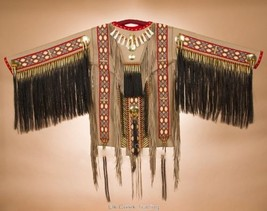 Authentic Tigua Indian Native American WAR~Shirt Beaded Fringed Elk Leat... - $3,359.00