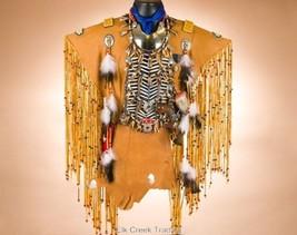 Authentic Handmade Deer Skin Creek Indian Nativ... - $1,299.00