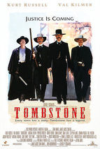 tombstone movie poster 24X36  kurt russell   val kilmer    sam elliot - $31.00