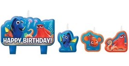 Finding Dory Birthday Party 4 Pc Candles Set Cake Topper Nemo - $5.69