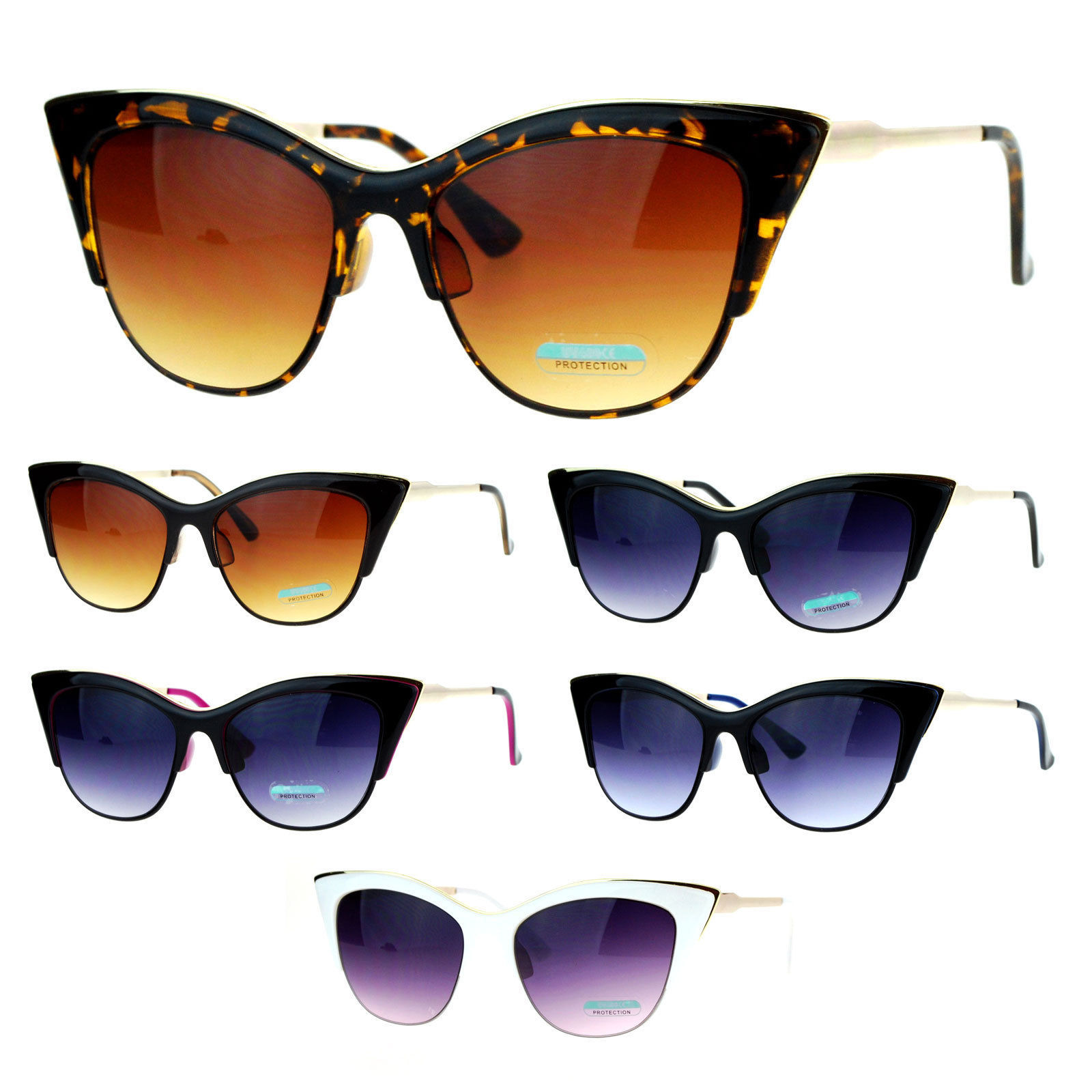 SA106 Womens Gothic Point Tip Cat Eye Sunglasses