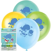 "Under the Sea Pals 8 12"" Latex Balloons Party Baby Shower 1st Birthday - $3.79"