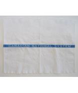 Canadian National RR advertising vintage towel blue white textile - $9.00