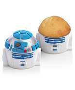 Star Wars R2-D2 Cupcake Pan 4 Silicone Molds Set New With Box - £6.43 GBP