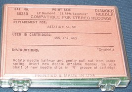 PHONOGRAPH RECORD NEEDLE for Astatic N54-sd N55 Astatic 455 457 463 162-DS73 image 2