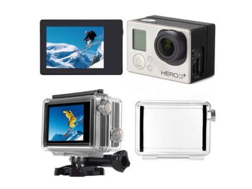 LCD Bacpac Toggle Display Viewer + Back Screen Door Case for GoPro Hero 3 3+ 4 for sale  USA