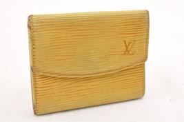 Louis Vuitton Epi Moneta Case Giallo IV Auth m011 - $89.43