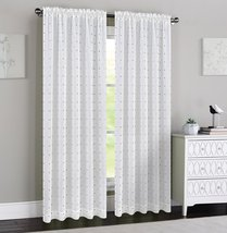 Urbanest 54-inch by 84-inch Madeline Set of 2 Sheer Curtain Panels, Off White wi image 2