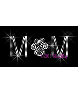 MoM - CLEAR Paw Print - Iron on Rhinestone Transfer Bling Hot Fix -Sport... - $5.99