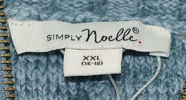 Simply Noelle Brand JCKT222Z Womens Misty Blue Zippered Sweater Jacket Size XXL image 6