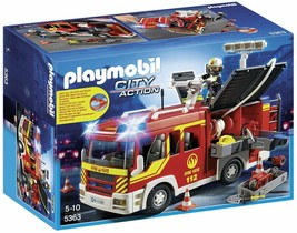Playmobil 5363 Fire Engine with Lights and Sound Building Set  - $115.24
