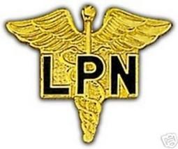 Army Nurse Lpn Gold Lapel Hat Pin - $13.53