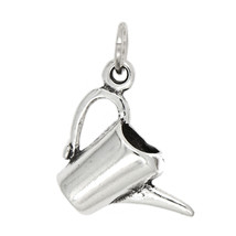 Sterling Silver Water Bucket Watering Can Charm - $11.29