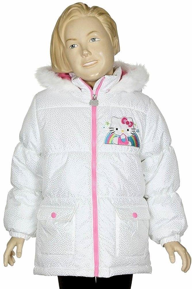 5e436ebe1 S l1600. S l1600. Previous. HELLO KITTY SANRIO White Faux-Fur Winter Coat  Bubble Jacket NWT Girls Size ...