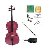 Merano 1/2 Size Hot Pink Cello,Bag,Bow+Extra Strings+2 Stands+Tuner+Rosin - $459.99