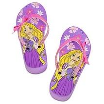 Rapunzel Disney Princess Purple Platform Flip Flops Beach Sandals Nwt Sz. 11/12 - $15.99